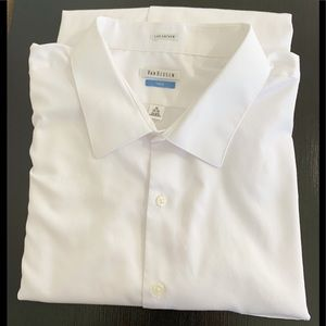 Van Heusen Lux Sateen White Dress Shirt 20 35/36